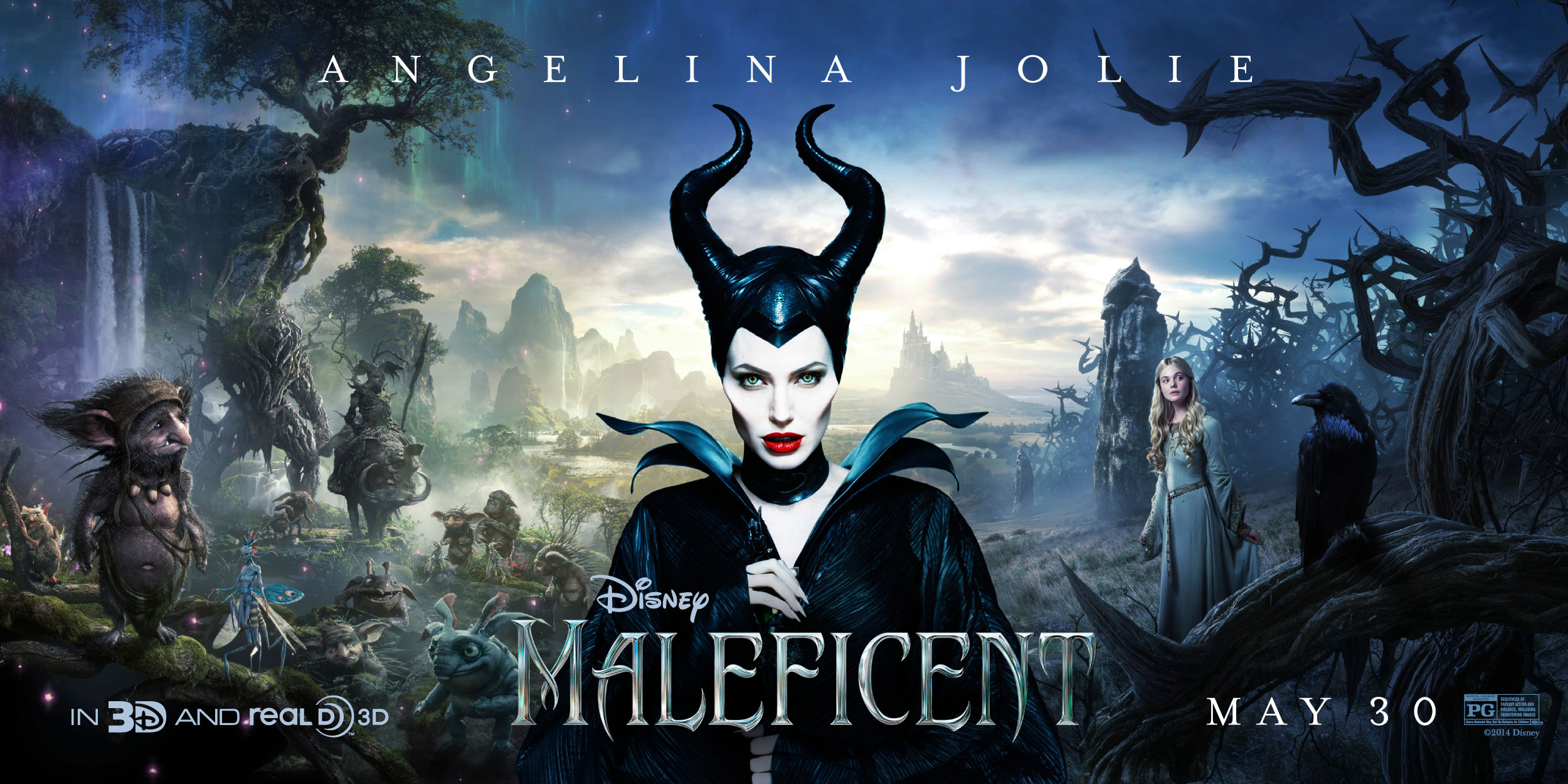 Maleficent-Official Poster Banner PROMO XLG-04ABRIL2014-01