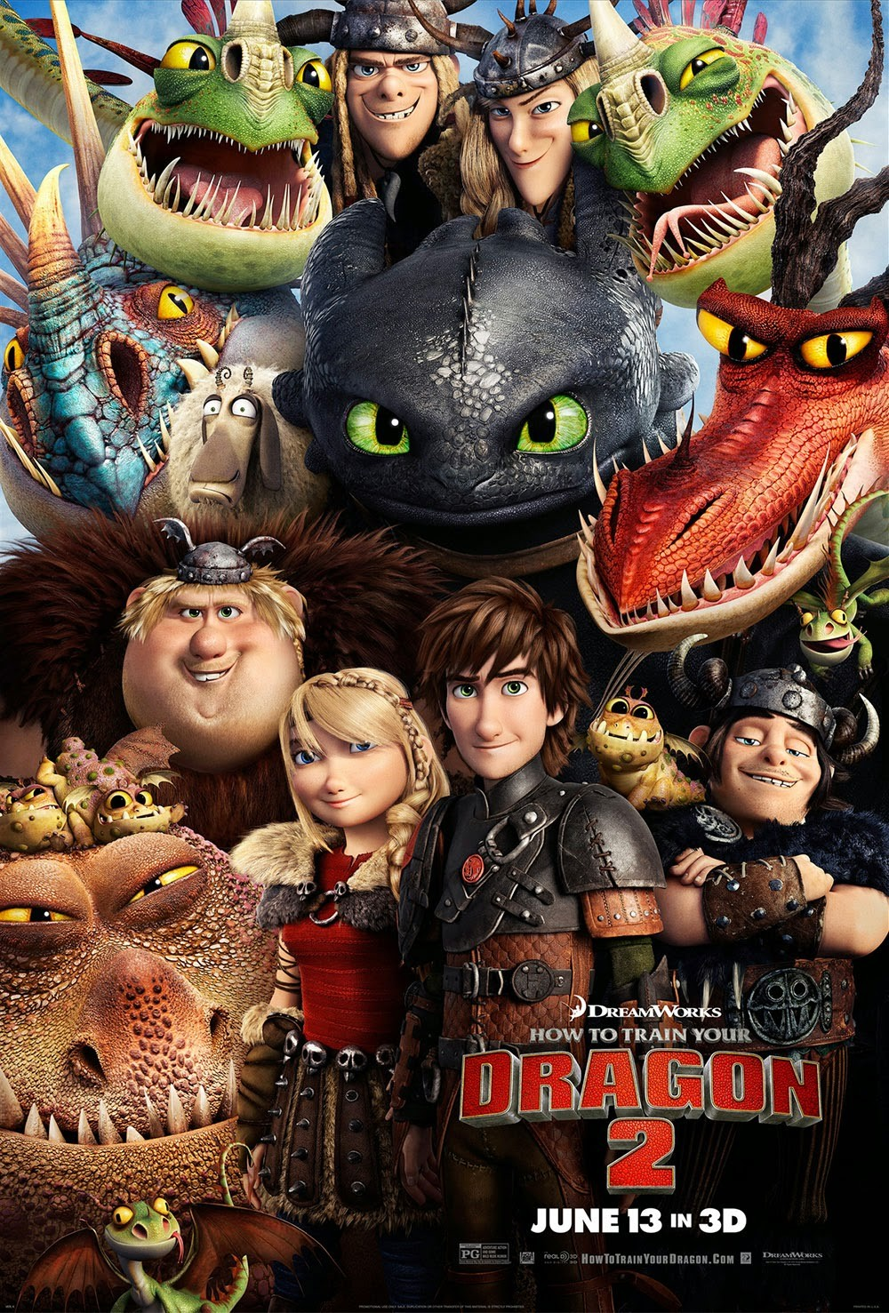 How to Train Your Dragon 2-Official Poster Banner PROMO XLG-06MAIO2014