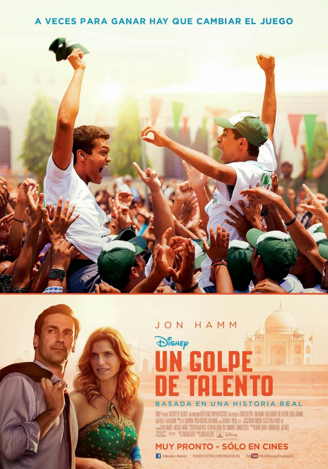 Million Dollar Arm-Official Poster Banner INTERNATIONAL XLG-09MAIO2014