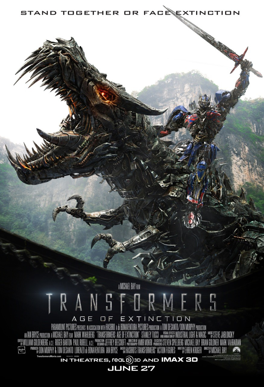 Transformers Age of Extinction-Official Poster Banner PROMO XLG-13MAIO2014