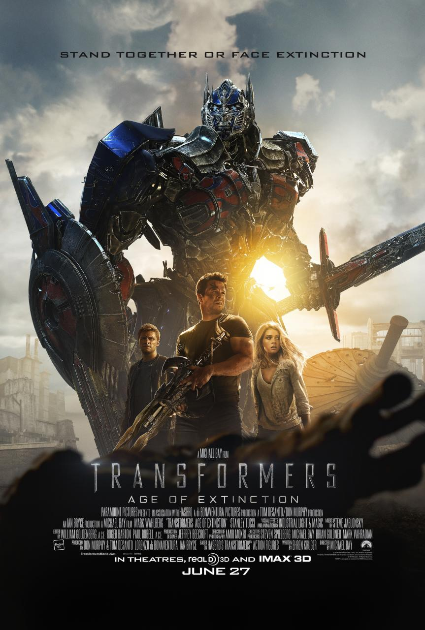 Transformers Age of Extinction-Official Poster Banner PROMO XLG-15MAIO2014