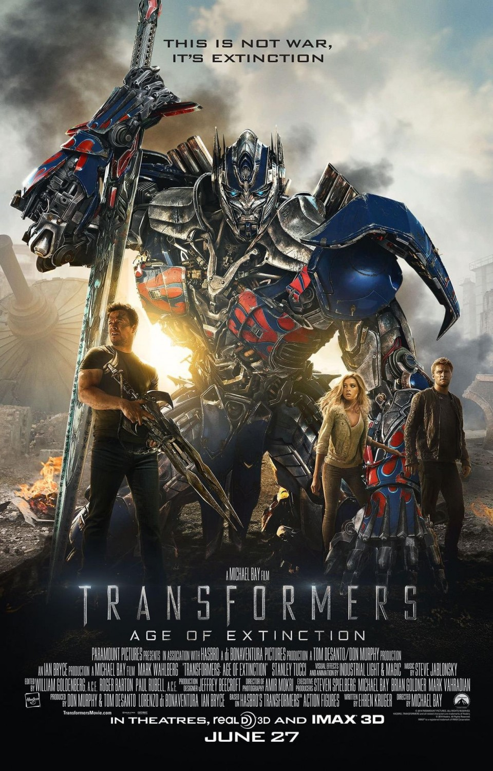 Transformers Age of Extinction-Official Poster Banner PROMO XLG-21MAIO2014-01