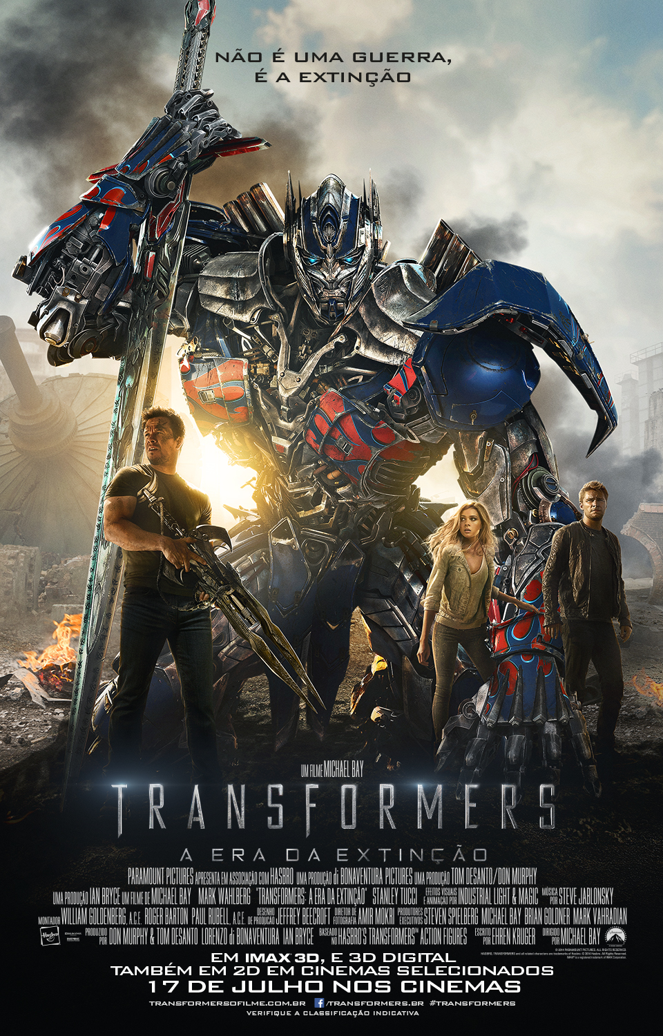 Transformers Age of Extinction-Official Poster Banner PROMO XLG-21MAIO2014-02