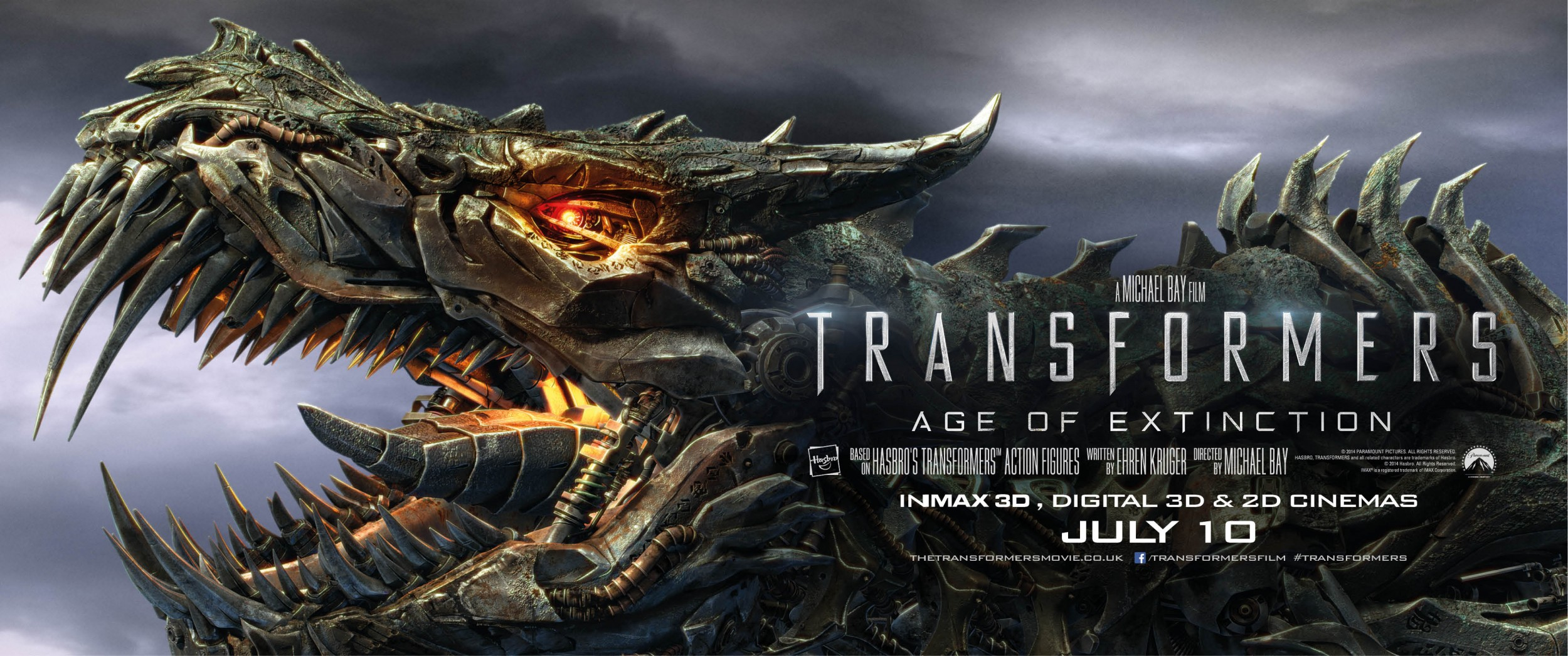 Transformers Age of Extinction-Official Poster Banner PROMO XXLG-14MAIO2014