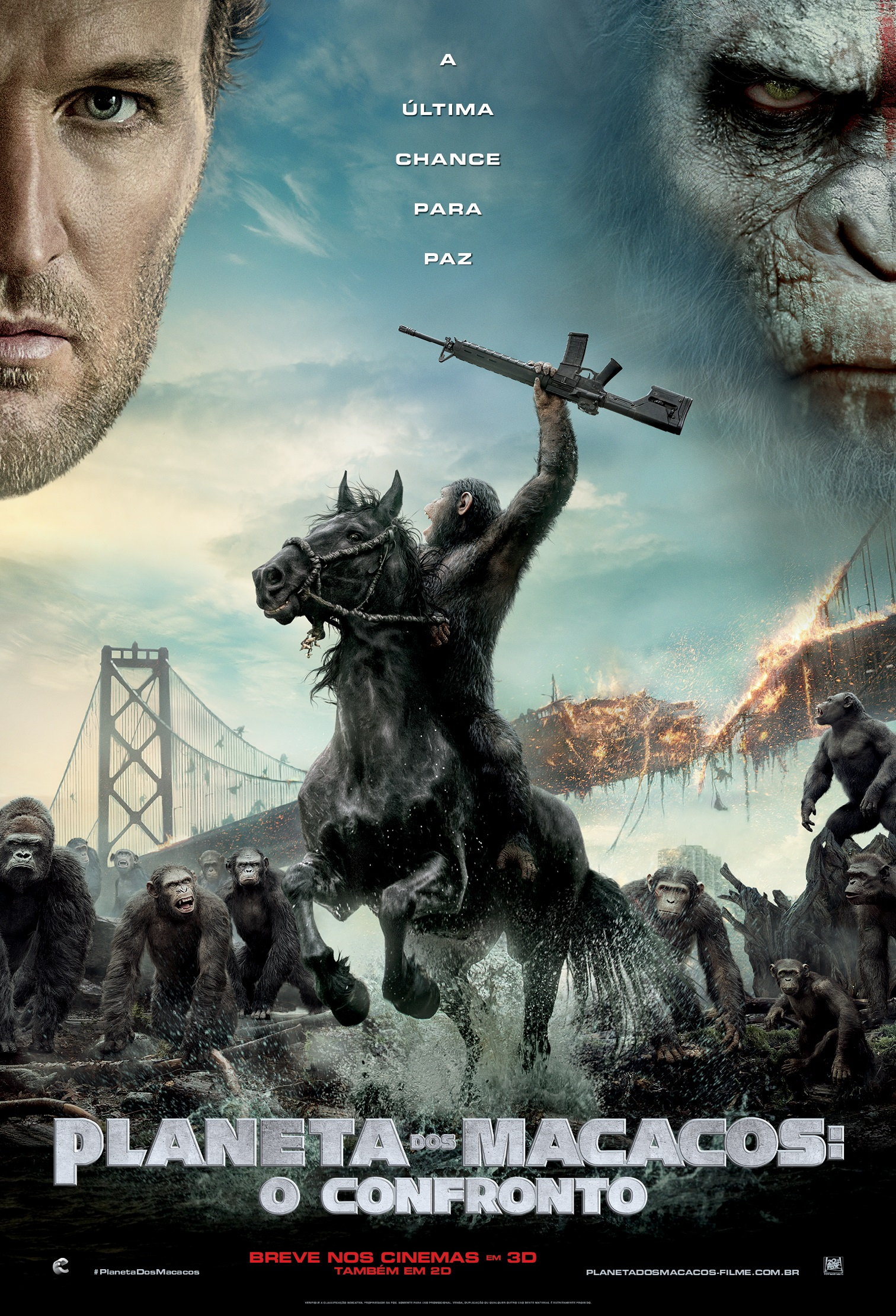 Dawn of the Planet of the Apes-Official Poster Banner PROMO BRAZIL-25JUNHO2014