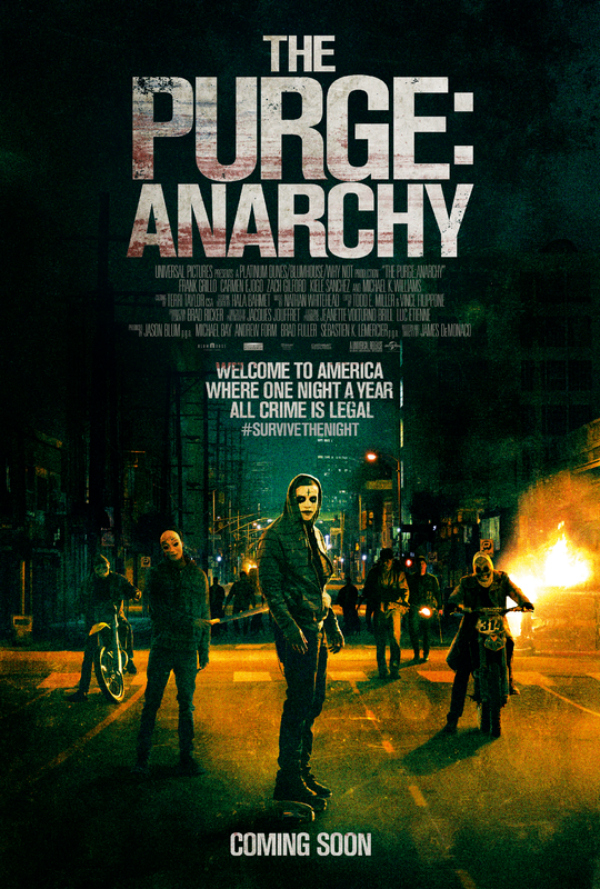 The Purge Anarchy-Official Poster Banner PROMO XLG-17JUNHO2014