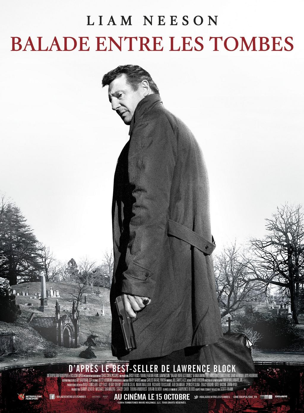 A WALK AMONG THE TOMBSTONES-Official Poster Banner PROMO XLG-26AGOSTO2014
