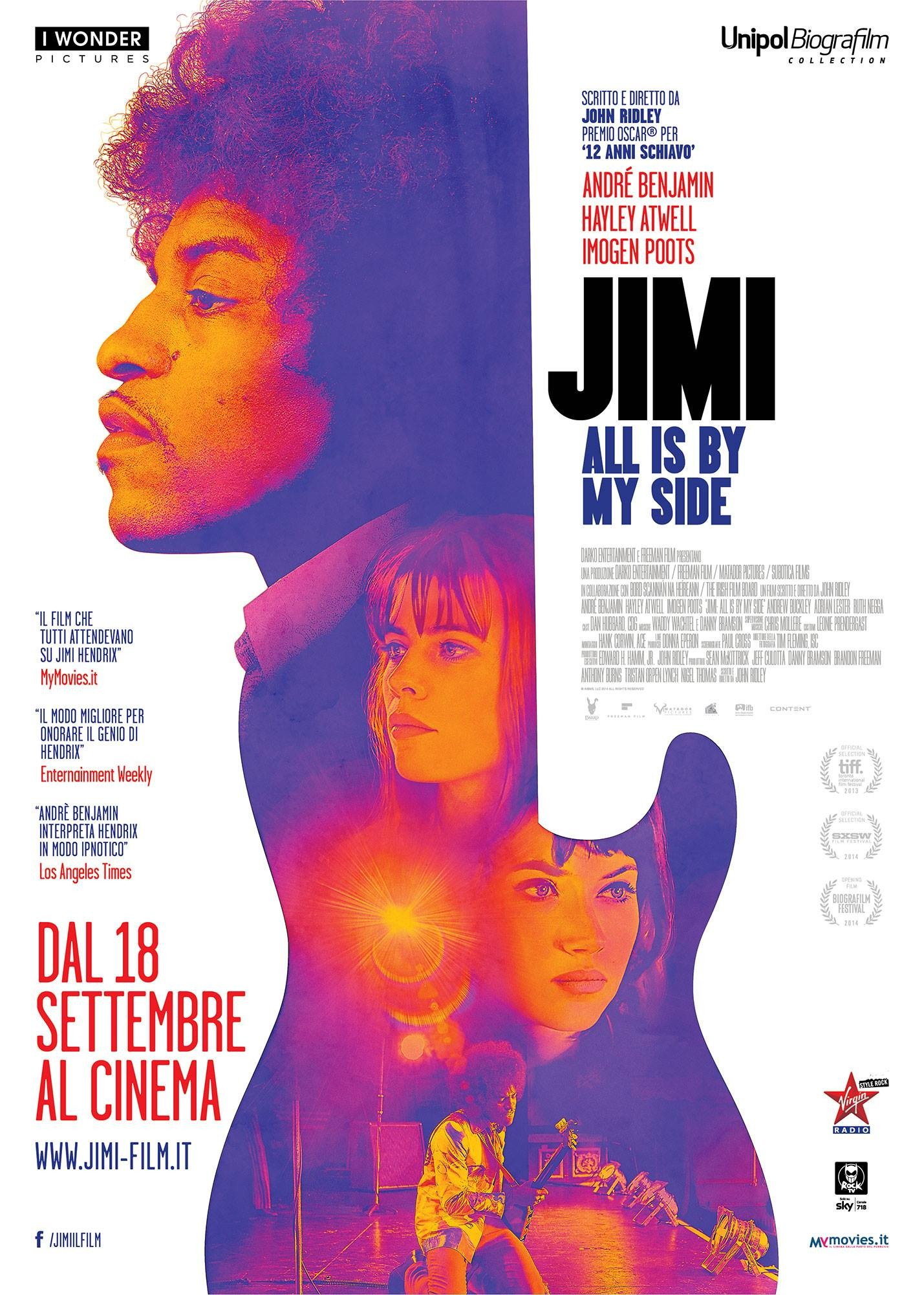 Jimi All Is by My Side-Official Poster Banner XLG-28AGOSTO2014