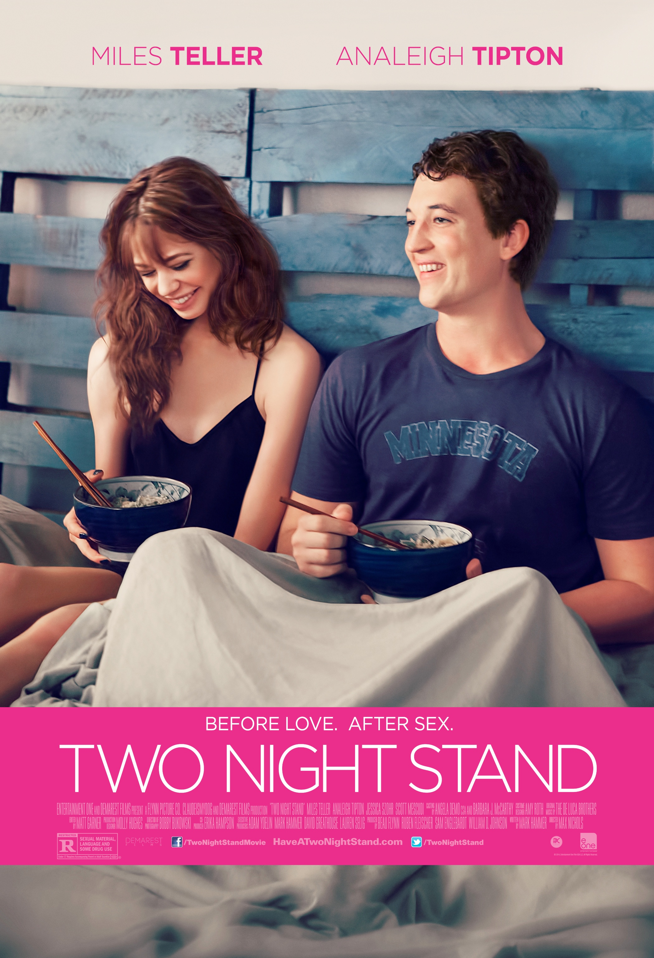 TWO NIGHT STAND-Official Poster Banner PROMO XLG-11AGOSTO2014