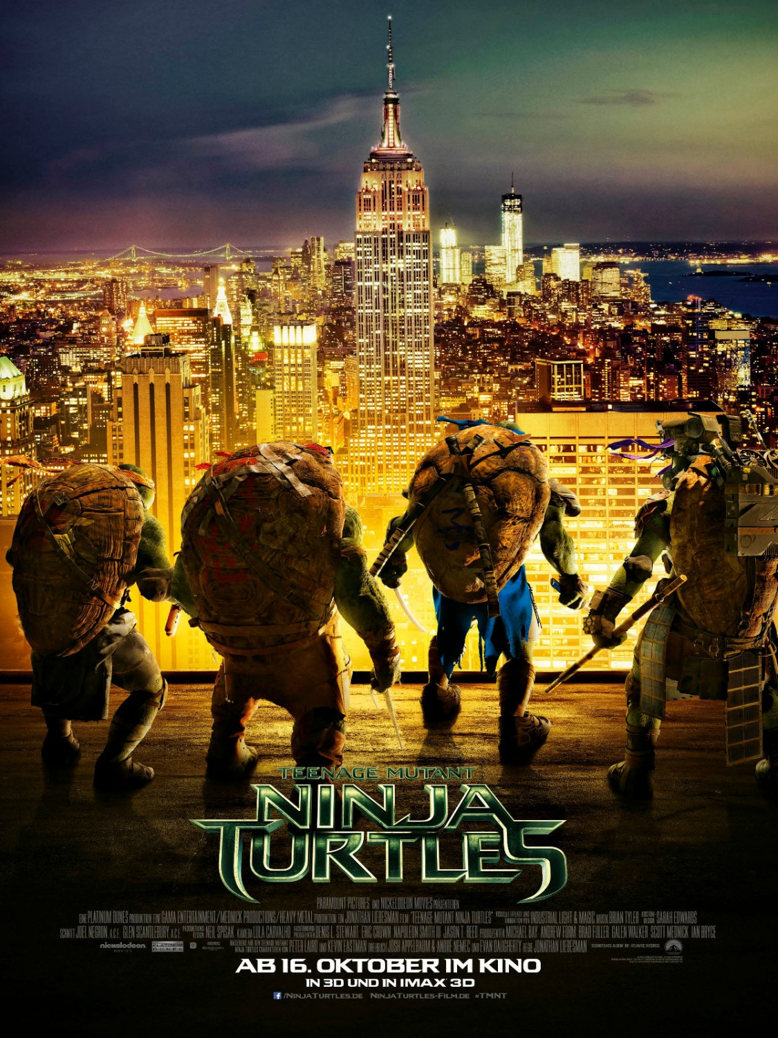 Teenage Mutant Ninja Turtles-Official Poster Banner PROMO XLG-01AGOSTO2014