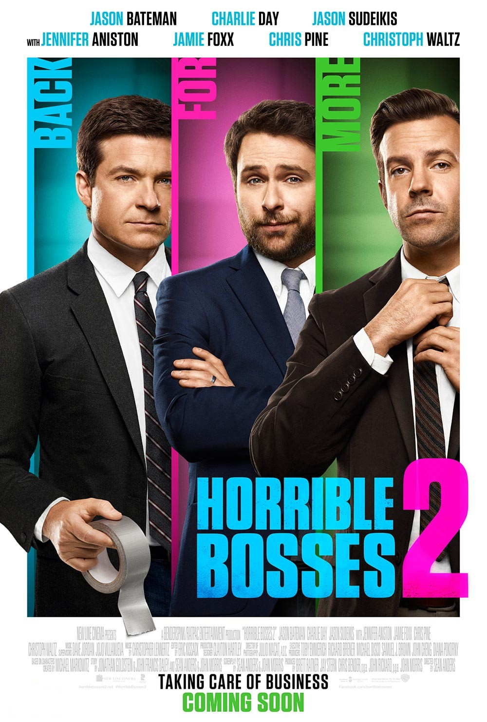 Horrible Bosses 2-Official Poster Banner PROMO XLG-05SETEMBRO2014
