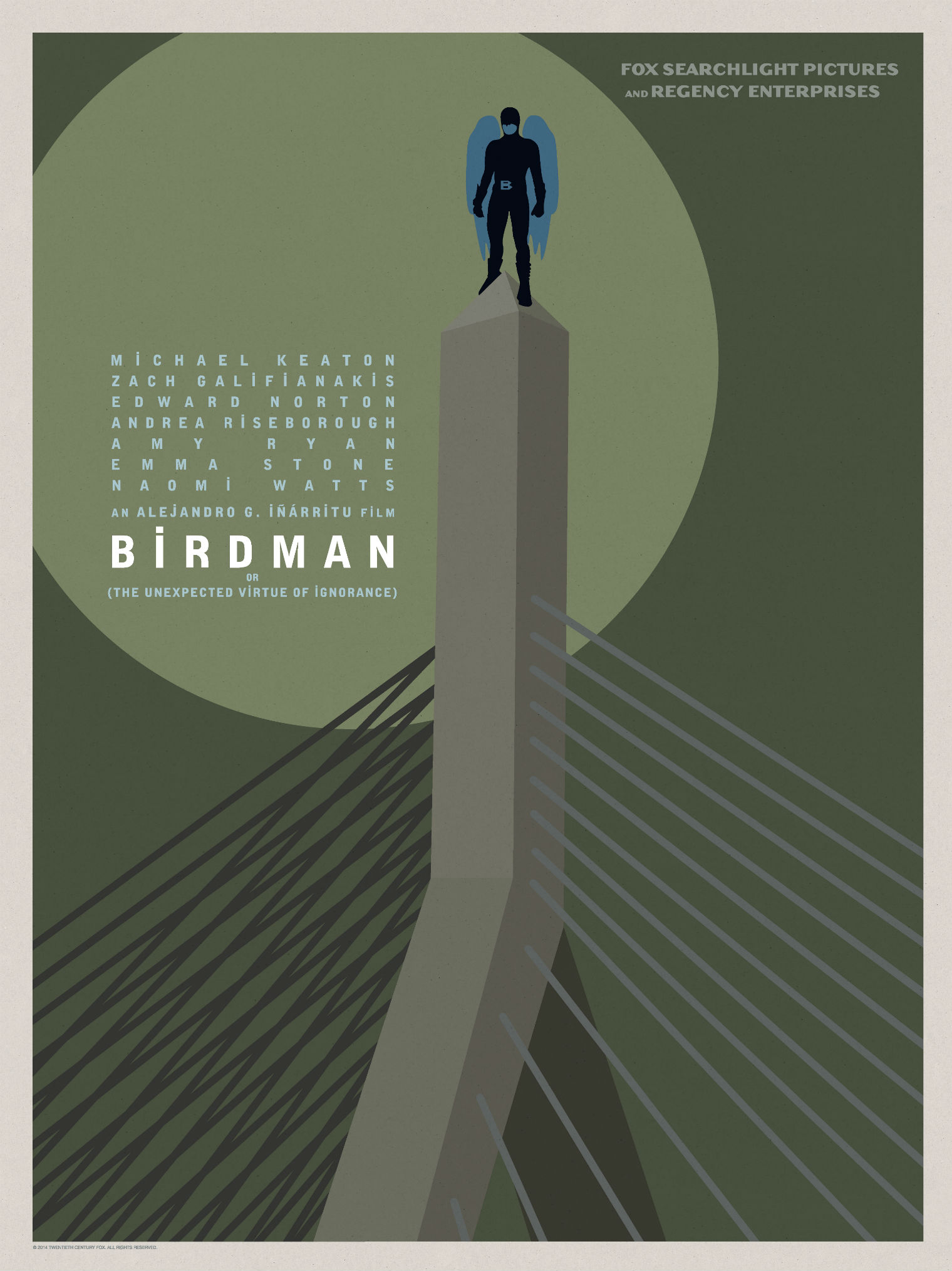 Birdman-Official Poster Minimalist XLG-13OUTUBRO2014-01