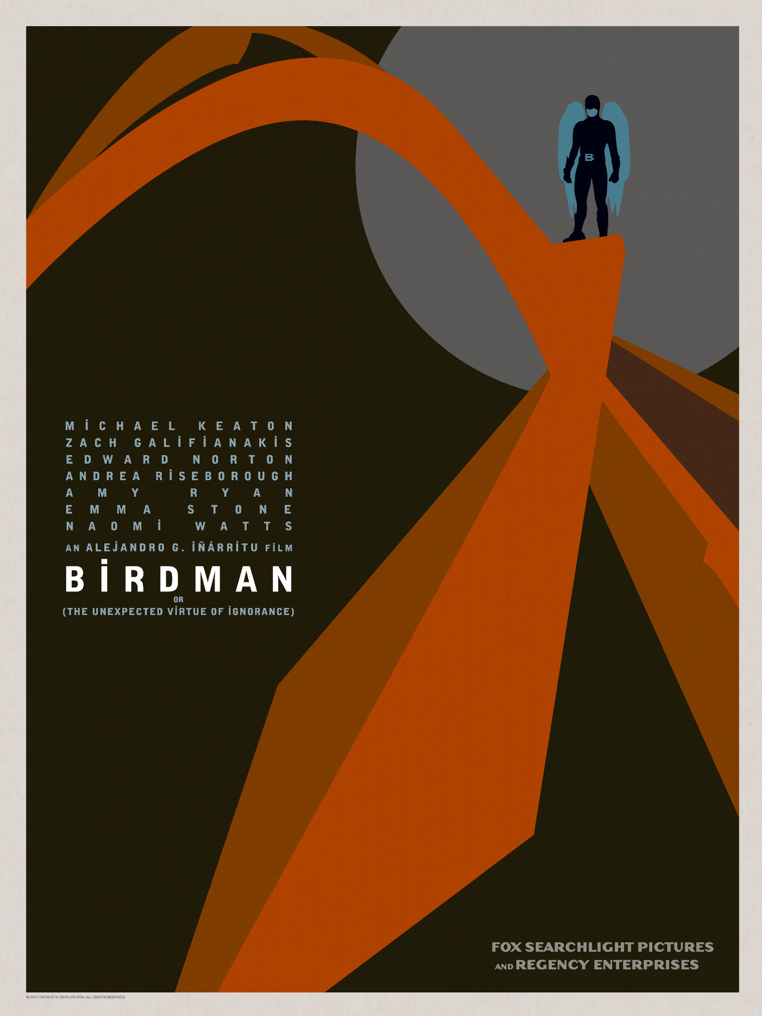 Birdman-Official Poster Minimalist XLG-13OUTUBRO2014-02