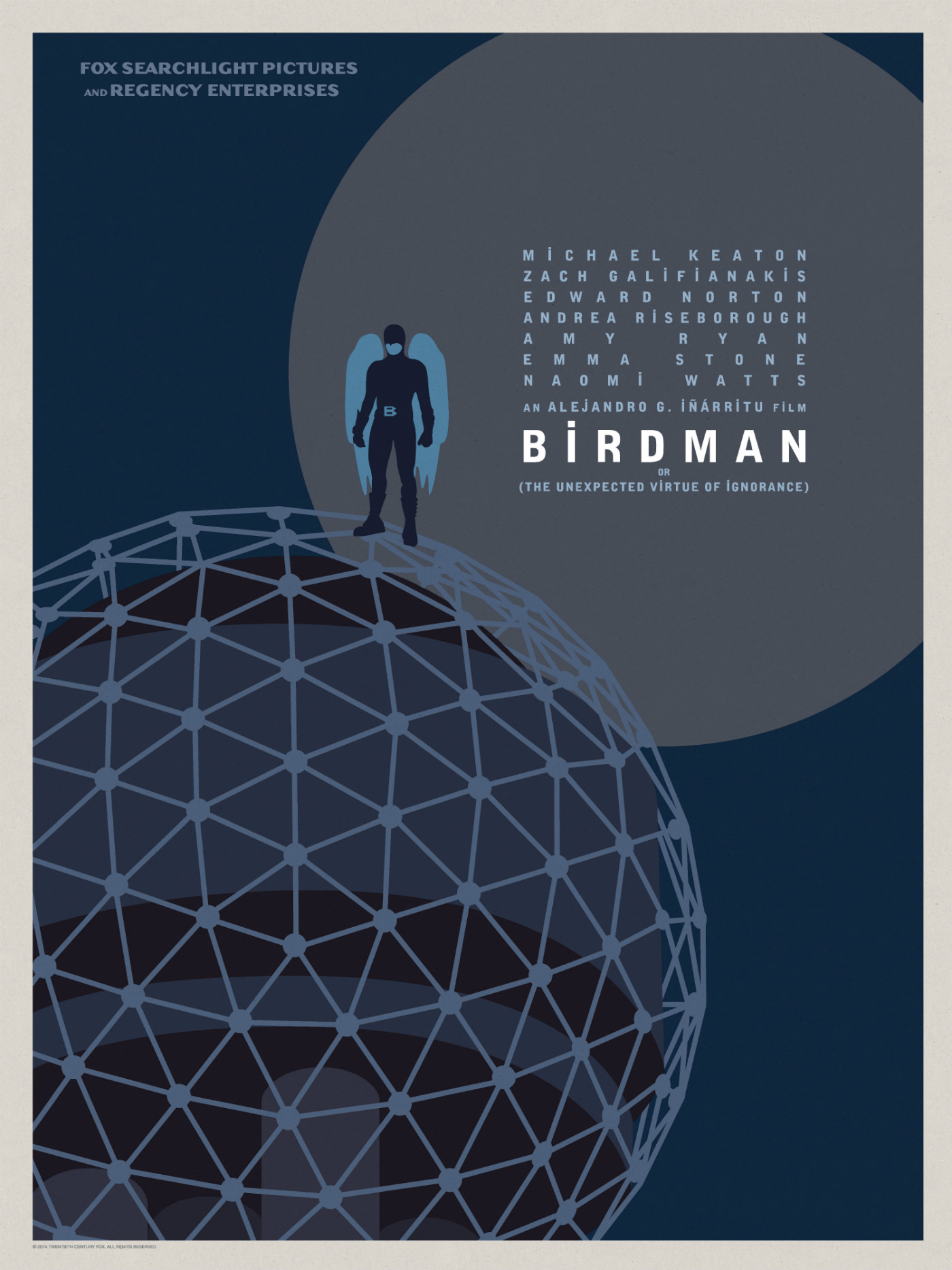 Birdman-Official Poster Minimalist XLG-13OUTUBRO2014-03