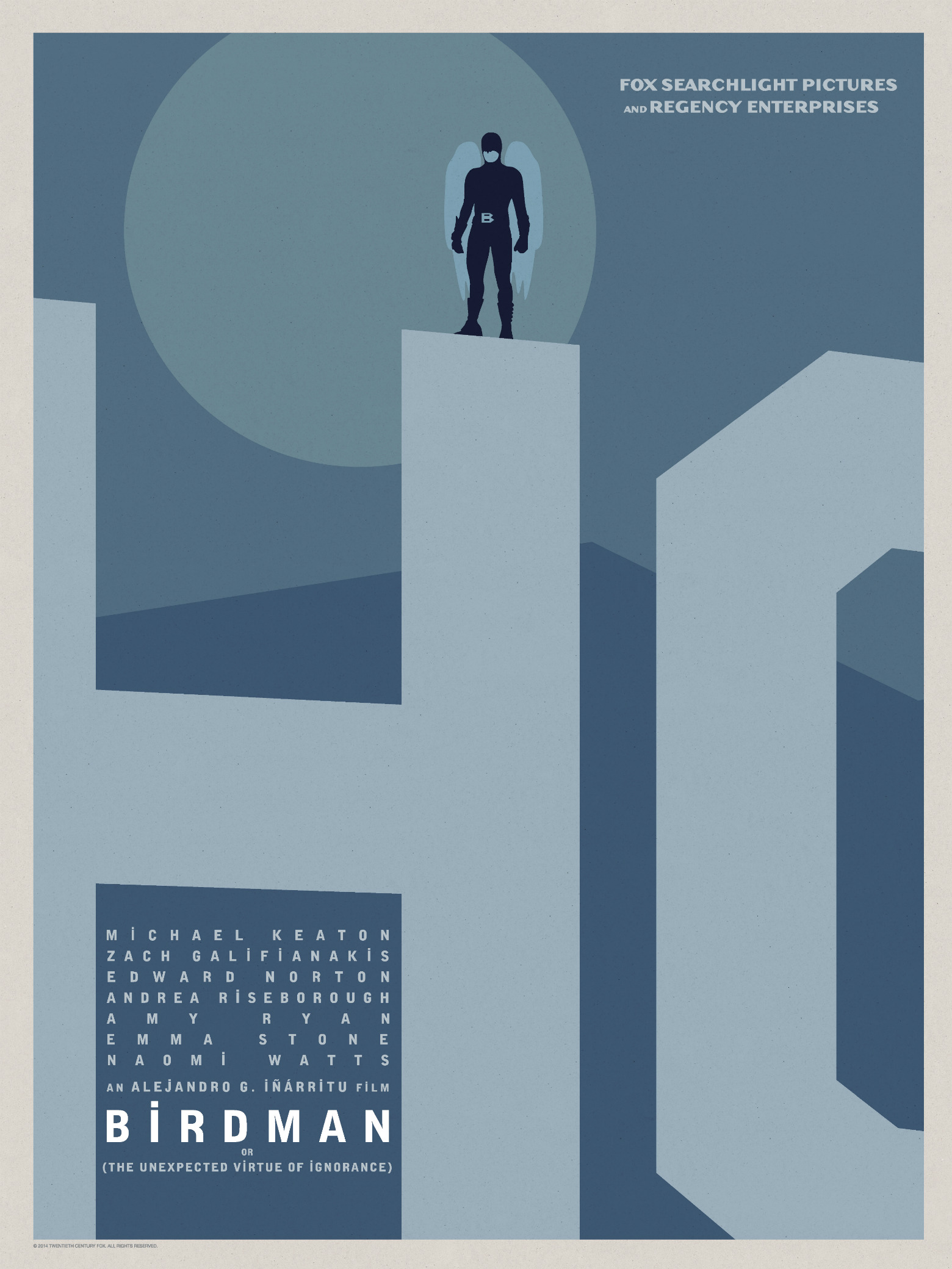 Birdman-Official Poster Minimalist XLG-13OUTUBRO2014-04