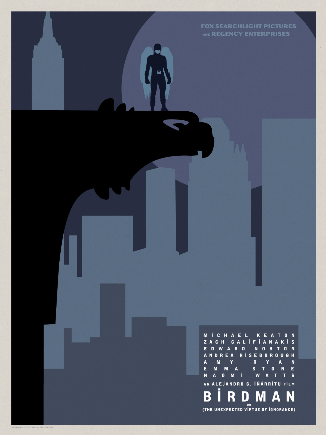 Birdman-Official Poster Minimalist XLG-13OUTUBRO2014-05