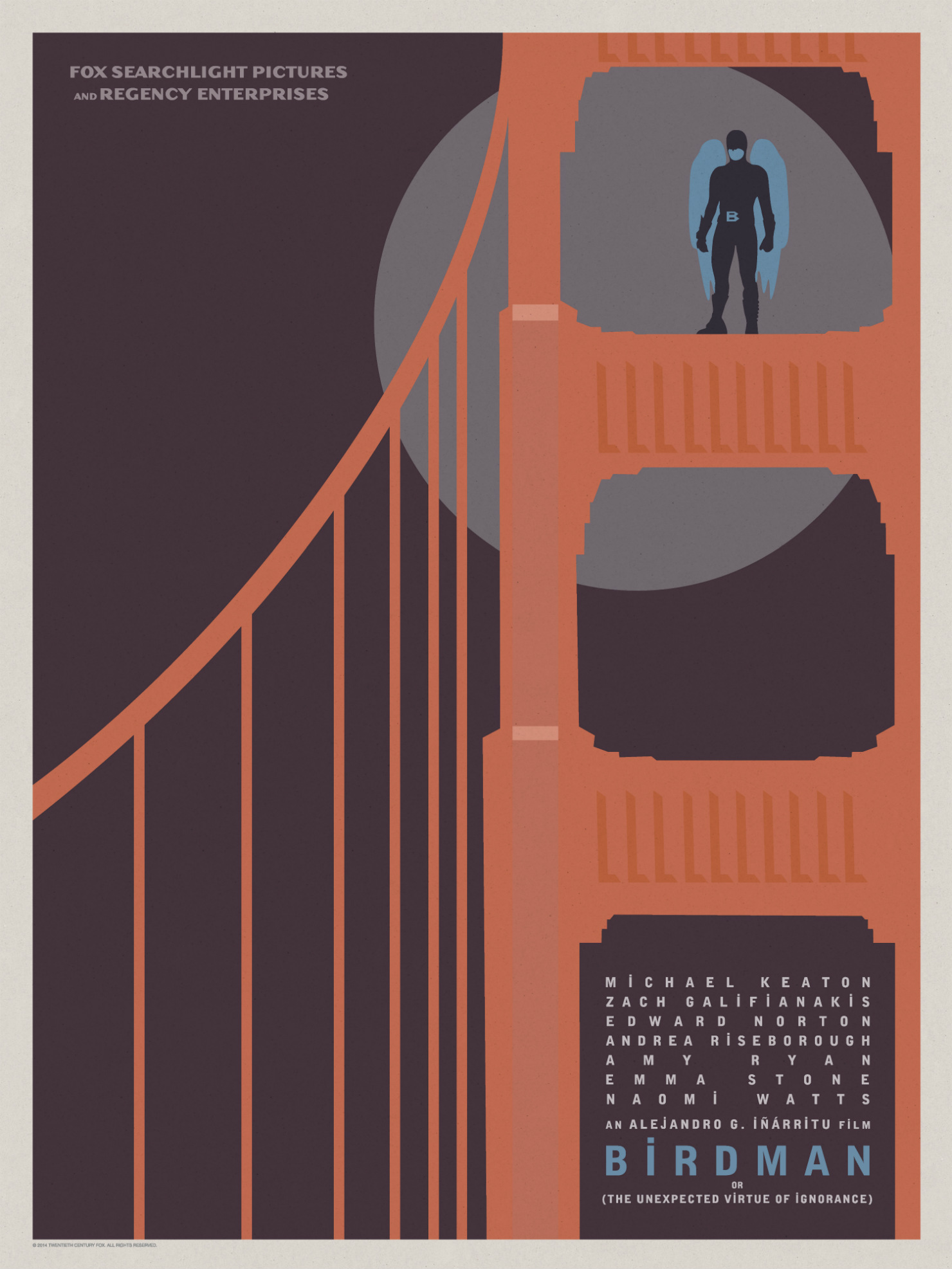 Birdman-Official Poster Minimalist XLG-13OUTUBRO2014-06