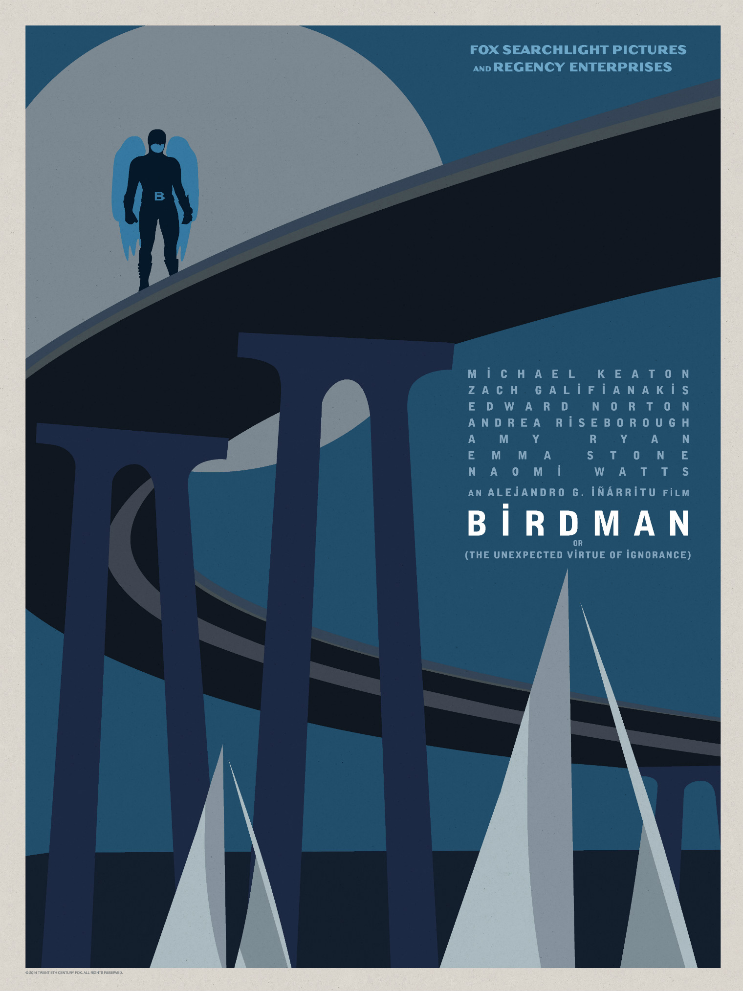 Birdman-Official Poster Minimalist XLG-13OUTUBRO2014-08