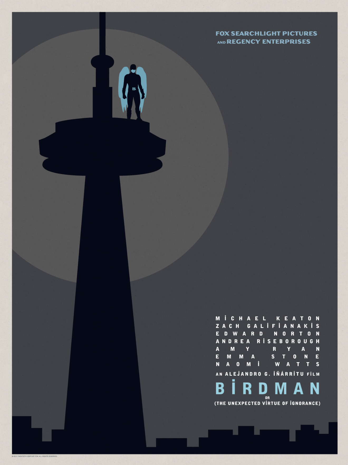 Birdman-Official Poster Minimalist XLG-13OUTUBRO2014-09