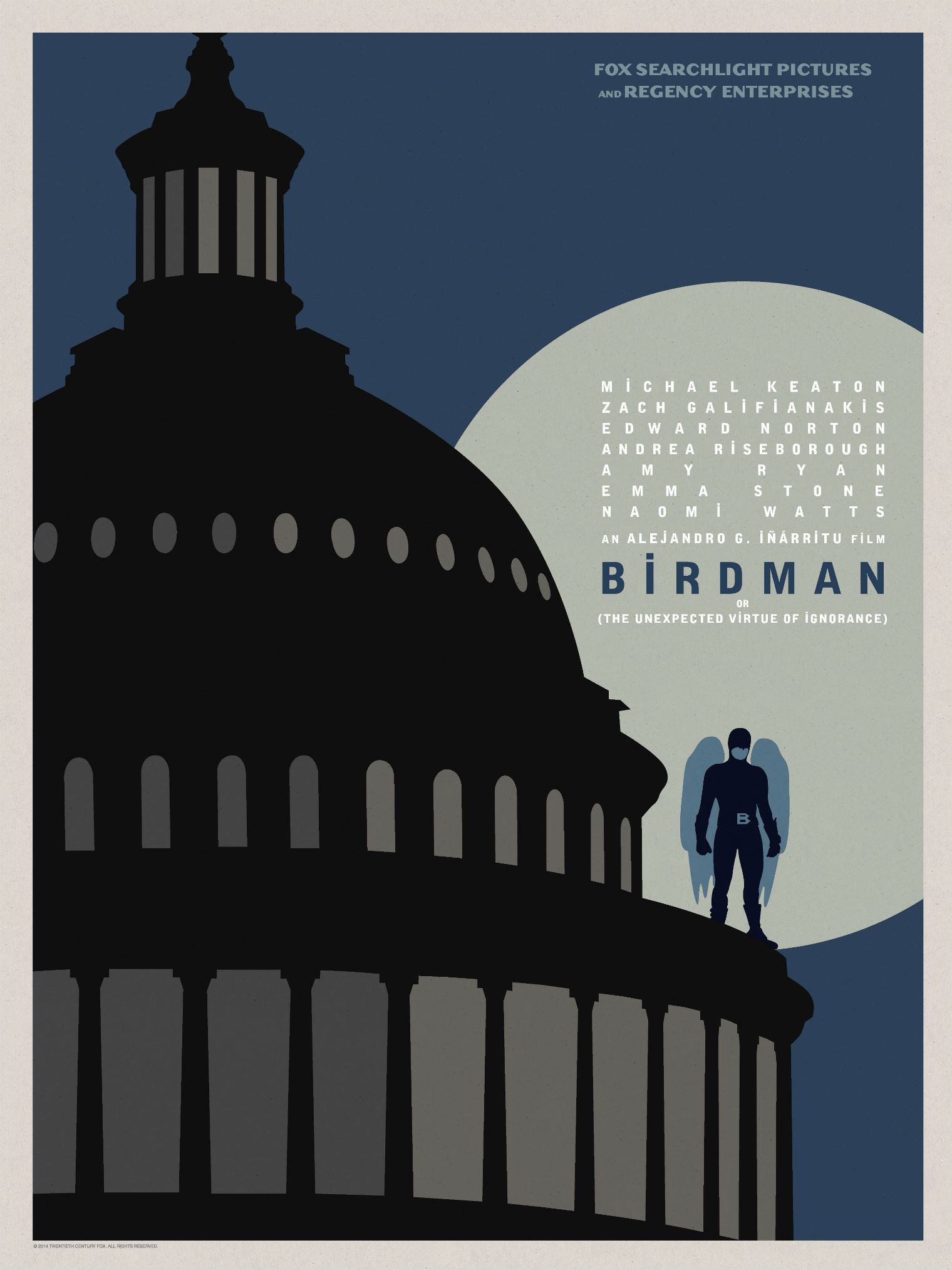 Birdman-Official Poster Minimalist XLG-13OUTUBRO2014-10