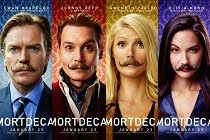 Johnny Depp, Gwyneth Paltrow, Olivia Munn e Ewan McGregor nos CARTAZES de MORTDECAI