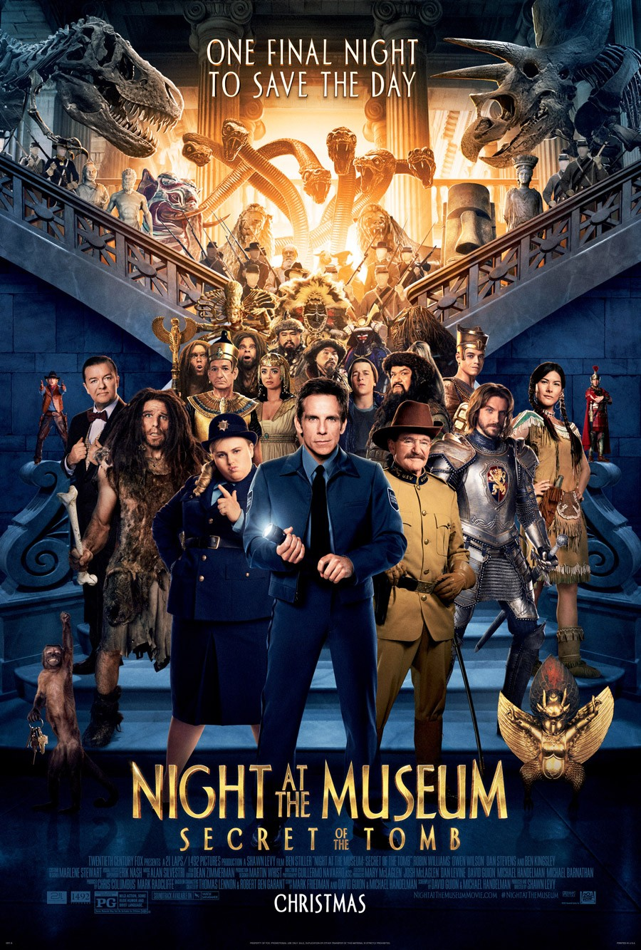 Night at the Museum Secret of the Tomb-Official Poster XLG-16OUTUBRO2014-00