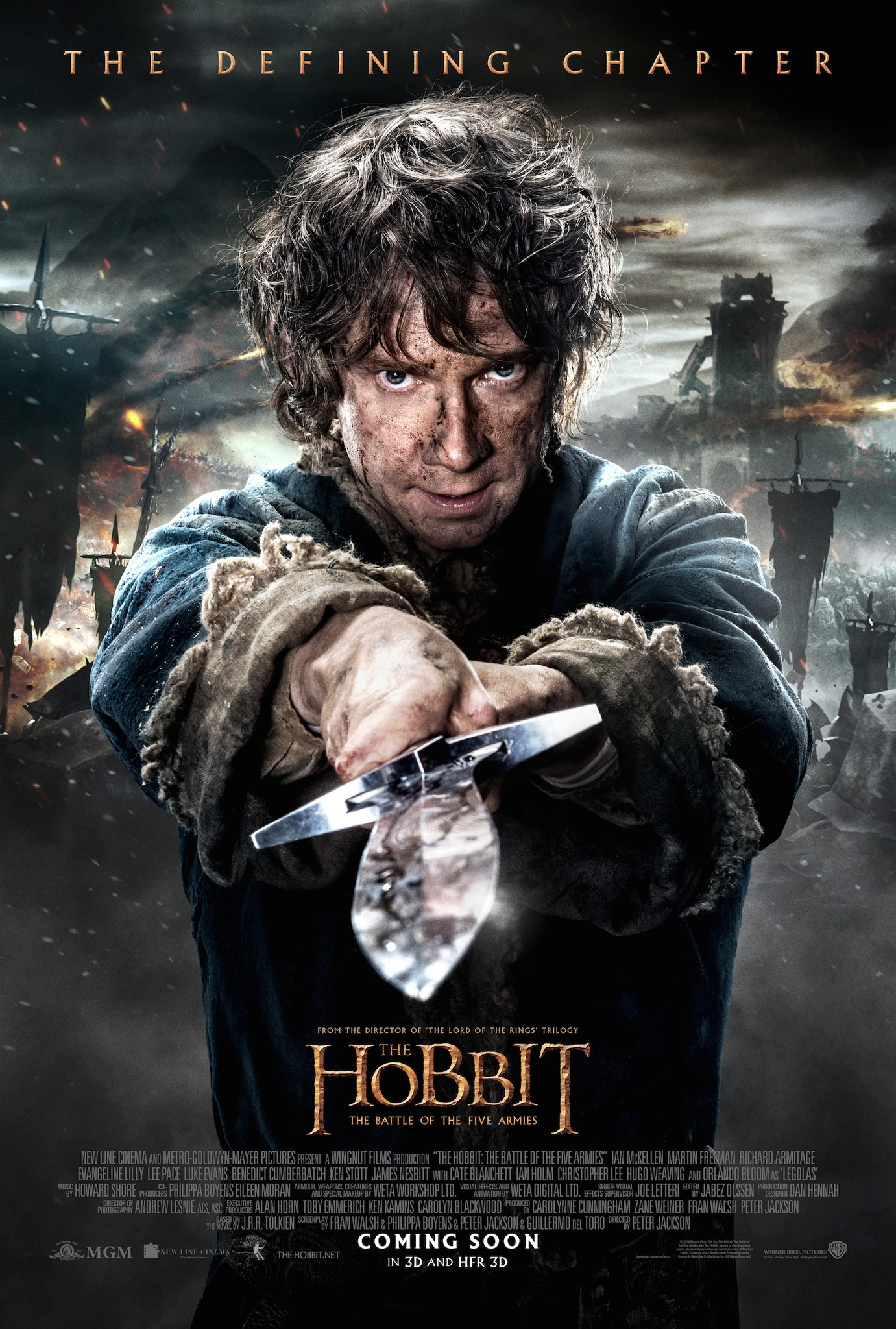 The Hobbit The Battle of the Five Armies-Official Poster Banner XXLG-07OUTUBRO2014