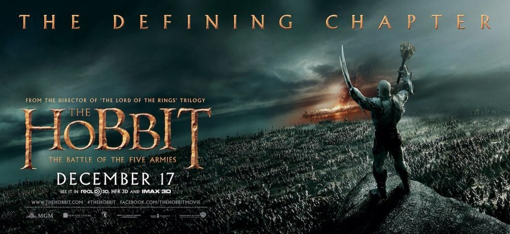 The Hobbit The Battle of the Five Armies-Official Poster XLG-15OUTUBRO2014-05