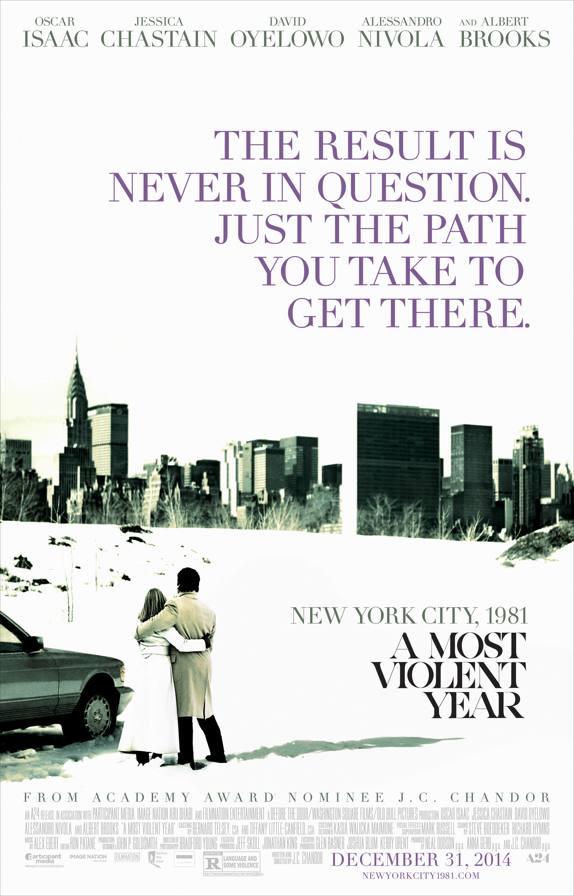 A MOST VIOLENT YEAR-Official Poster Banner XXLG-04NOVEMBRO2014
