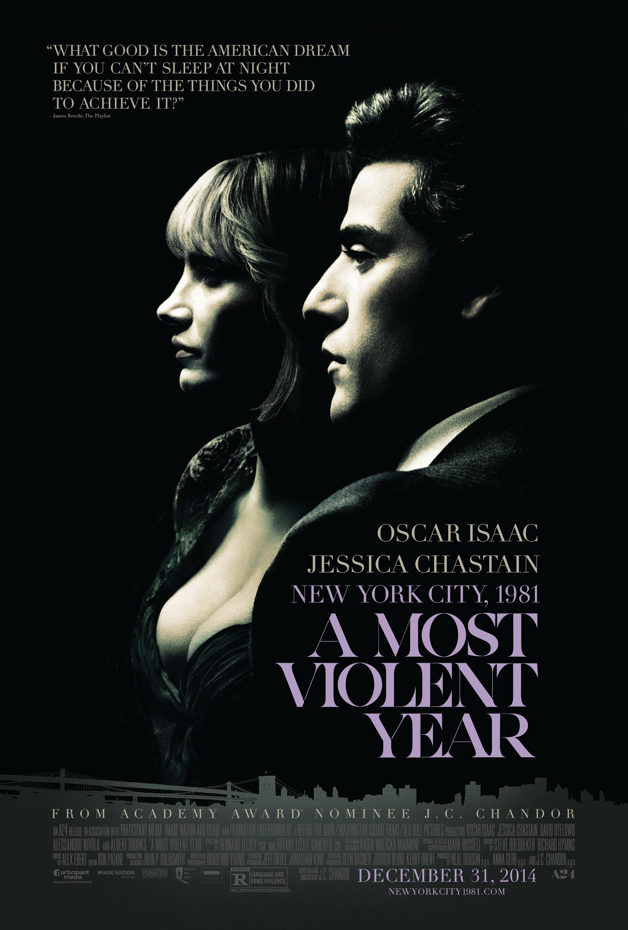 A Most Violent Year-Official Poster Banner PROMO-27NOVEMBRO2014