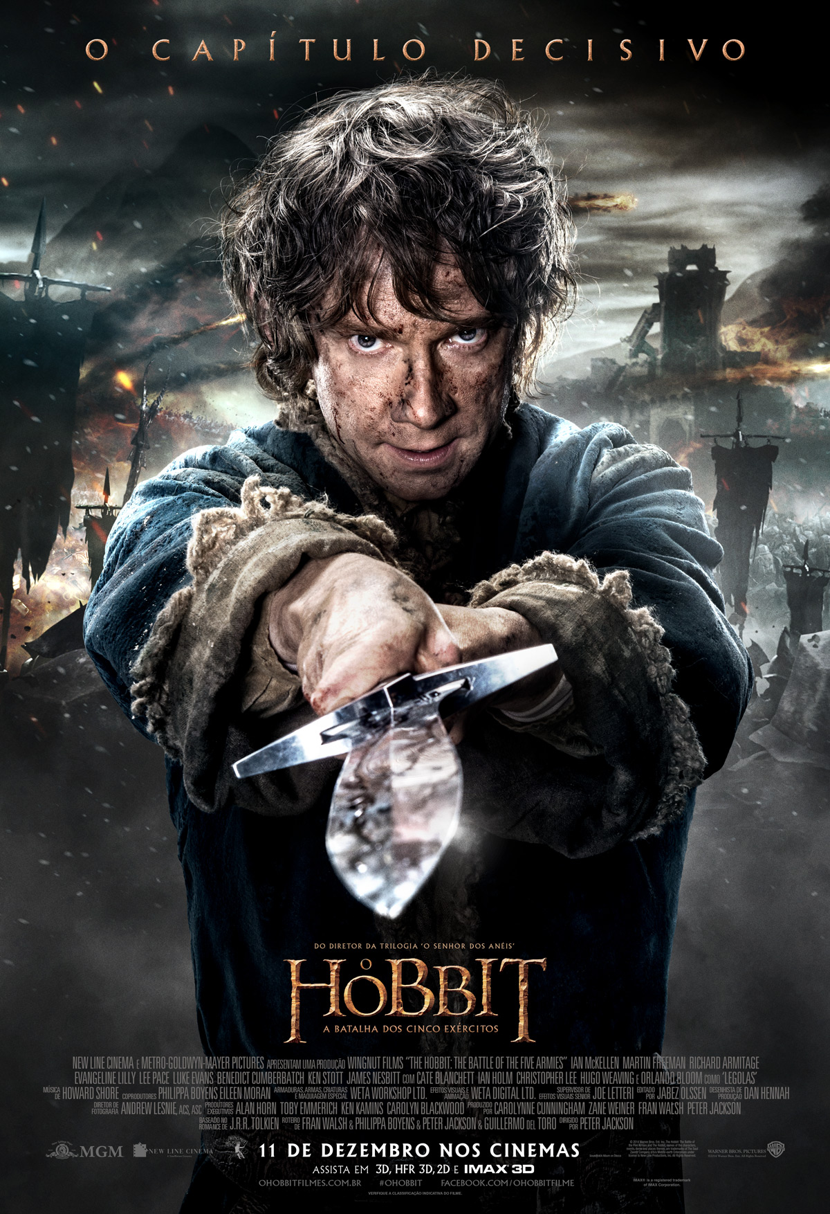 The Hobbit The Battle of the Five Armies-Official brasil POSTER-14NOVEMBRO2014-02
