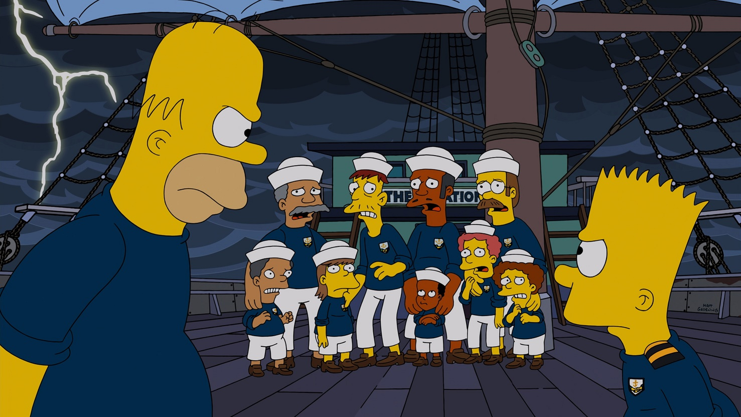 THE SIMPSONS: Bart disrespects HomerÕs authority in the ÒThe Wreck of the RelationshipÓ episode of THE SIMPSONS airing Sunday, Oct. 5 (8:00-8:30 PM ET/PT) on FOX.  THE SIMPSONS ª and  © 2014 TCFFC ALL RIGHTS RESERVED.