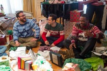 Seth Rogen, Joseph Gordon-Levitt & Anthony Mackie celebram no TRAILER de THE NIGHT BEFORE