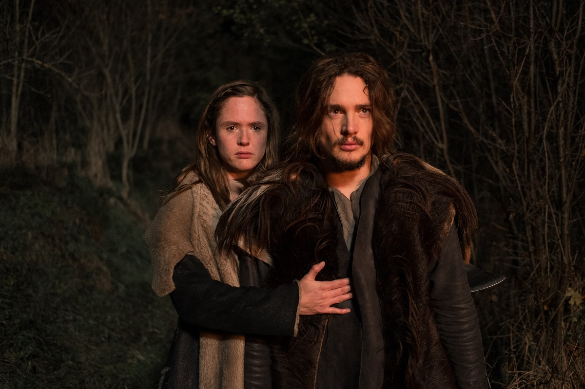 The Last Kingdom | Episode One © Carnival Film & Television Ltd Photographer: Joss Barratt Emily Cox (as Brida) with Alexander Dreymon (as Uhtred)