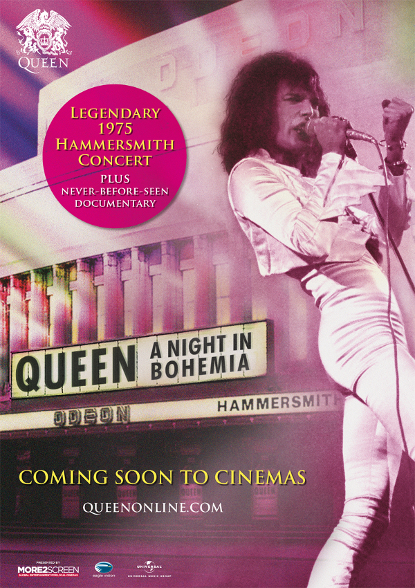 QUEEN - A NIGHT IN BOHEMIA-poster