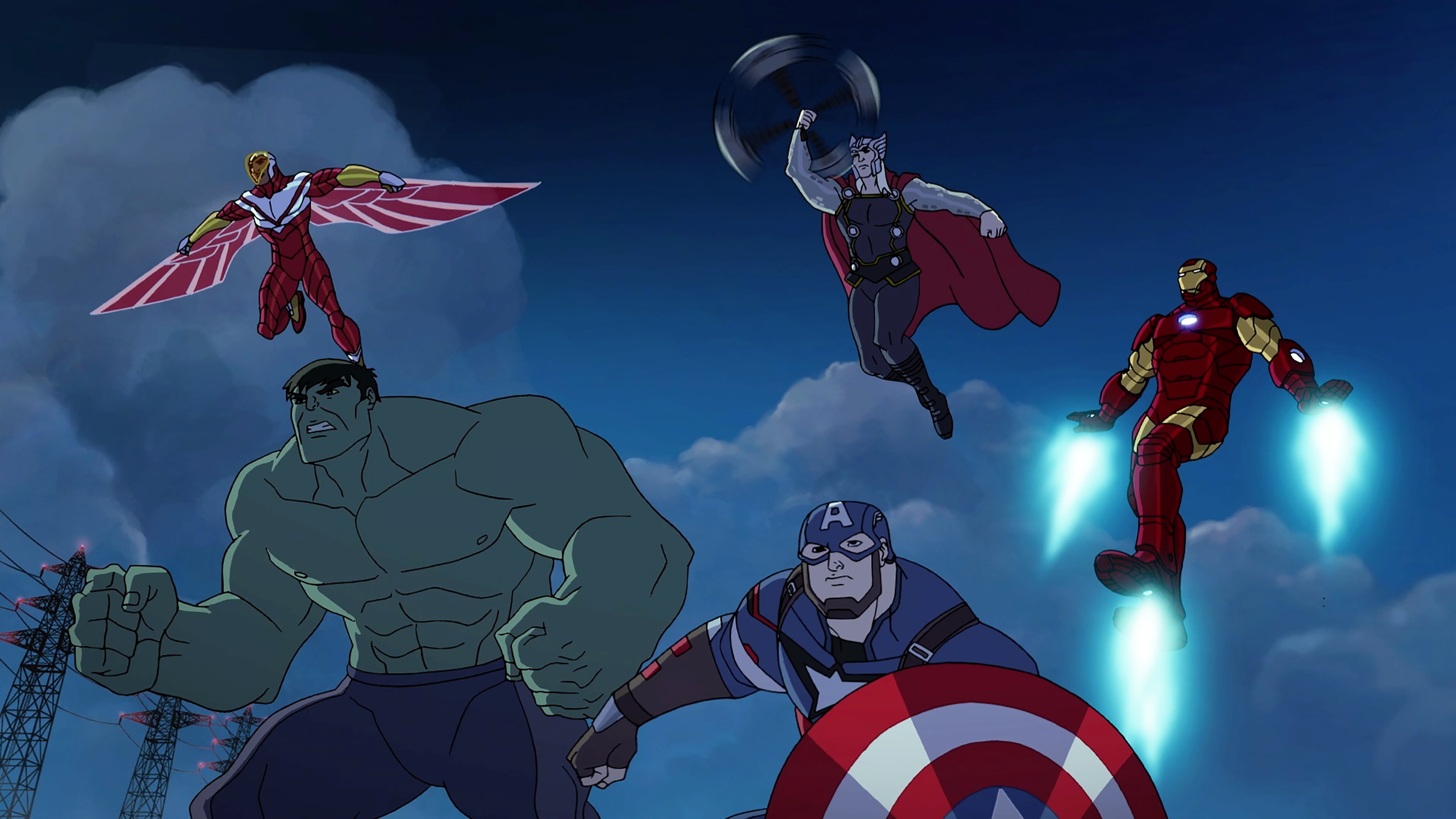 FALCON, HULK, CAPTAIN AMERICA, THOR, IRON MAN