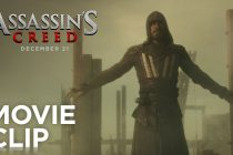 Michael Fassbender em cenas de ação nos CLIPES de ASSASSIN'S CREED