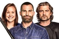 Seann William Scott, Alison Pill & Liev Schreiber no PÔSTER da comédia GOON 2